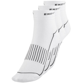 Endura Coolmax Race Cycling Socks Women triple pack white